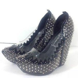Jeffrey Campbell Audrey Spike High Patent Wedge